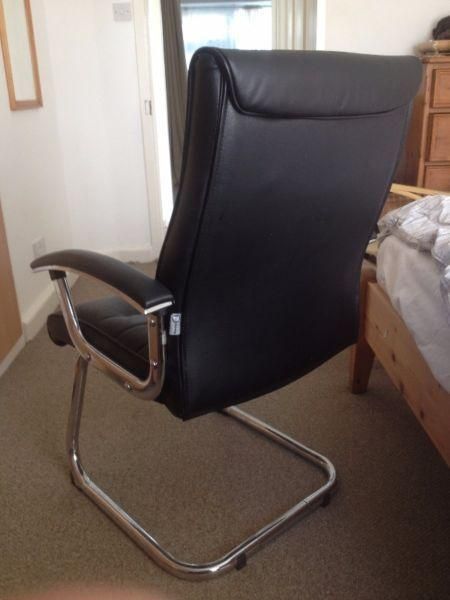 Leather computer chair Free to collect