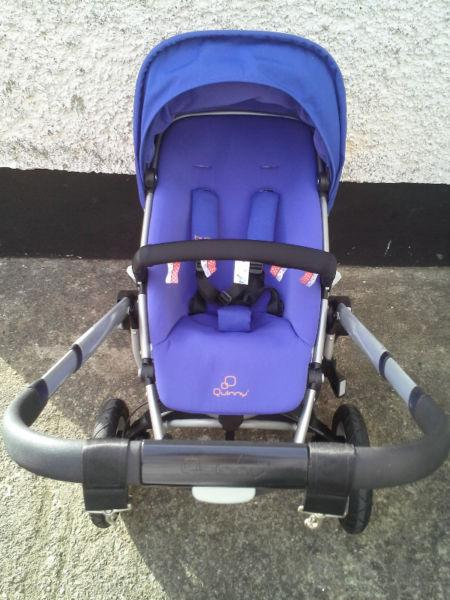 Quinny Buzz Xtra buggy with extras.Purple pace.Great condition