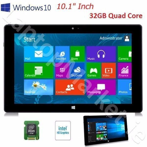 Fast New Tesco 10.1 32GB SSD Tablet WiFi HDMI USB Intel Atom Quad Core Dual Camera Windows 10 Office