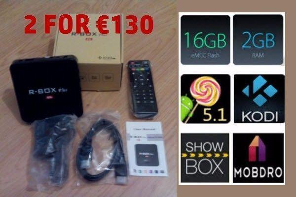 R-Box Plus 2+16GB Android TV Box - Fully Loaded