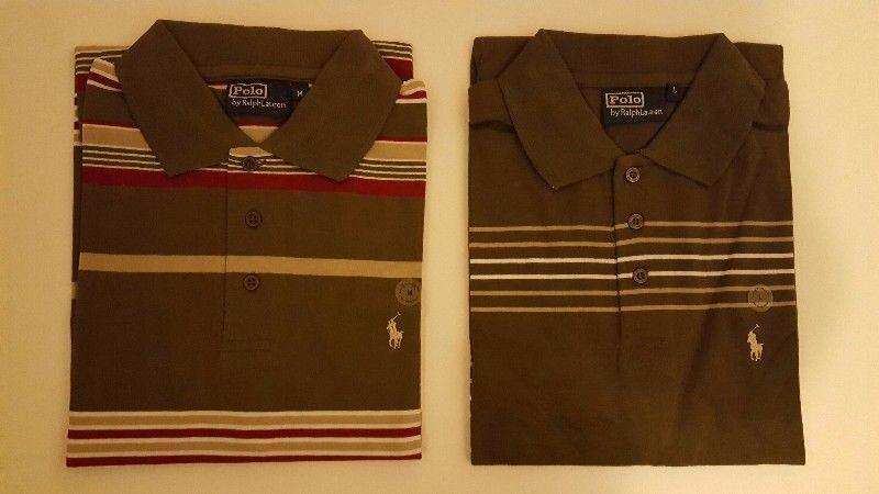 Lot of 2 x Medium and 5 x Large Polo T-Shirts, NEW with Tags