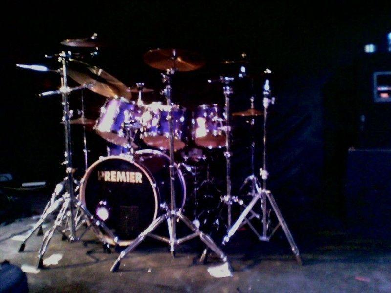 Sabian Cymbals & DB pedal with Premier APK Kit with flight cases