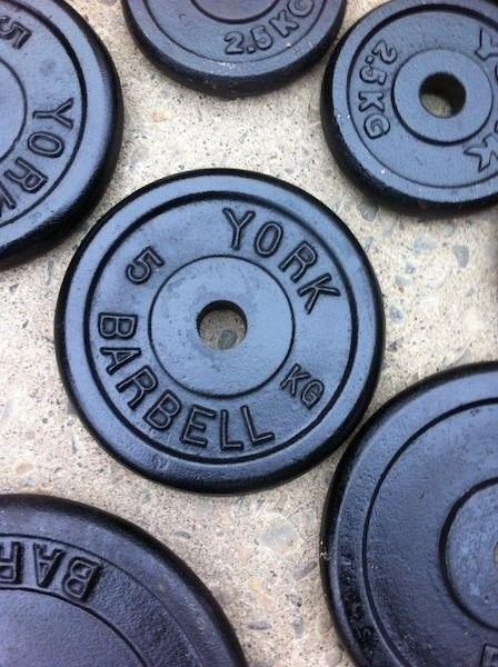 110kg York cast iron Weights Set