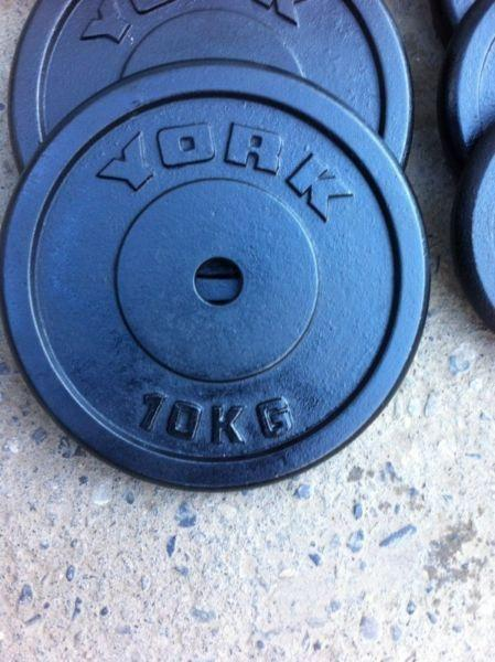 YORK CAST IRON WEIGHT PLATES