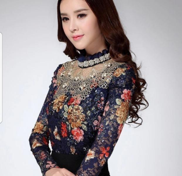 NEW Fashion Elegant Ladies Floral Print blouse