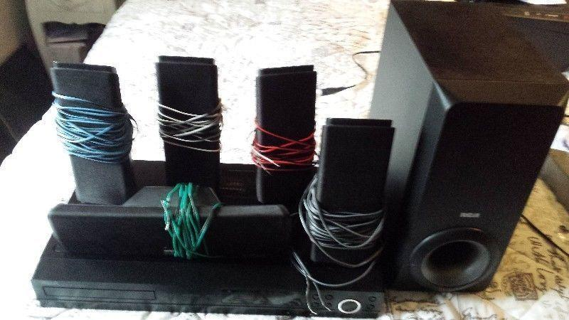 DVD player with home cinema speakers 5.1