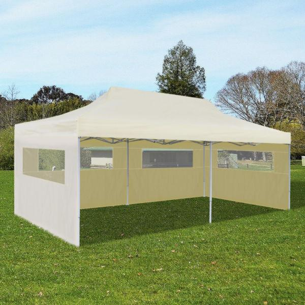 Cream Foldable Pop-up Party Tent 3 x 6 m(SKU41582)