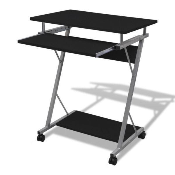 Computer Desk Pull Out Tray Furniture Office Student Table Black(SKU20051)