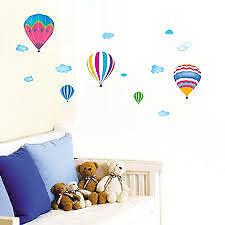 60x33cm kids room house decorative poster fire ballon wall sticker
