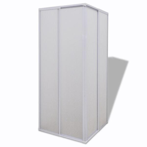 Shower Doors & Enclosures:Shower Cabin Enclosure PP Board Rectangular 80x80cm(SKU140788)
