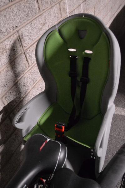 Hamax Kiss Rear Child Bike Seat - Grey and Green