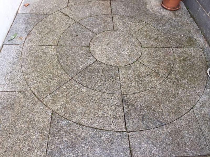 Patio stone feature (granite)