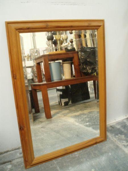 Rectangular Oak-framed Mirrors
