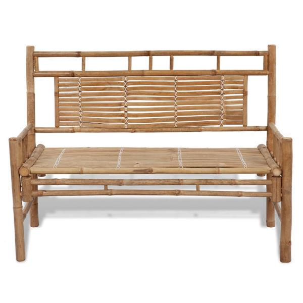 Outdoor Benches:Bamboo Bench with Backrest(SKU41504)