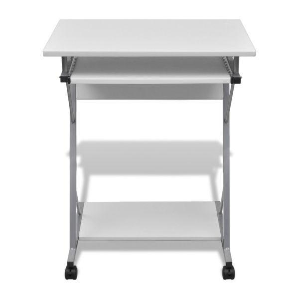 Desks:Computer Desk Pull Out Tray White Furniture Office Student Table(SKU20053)