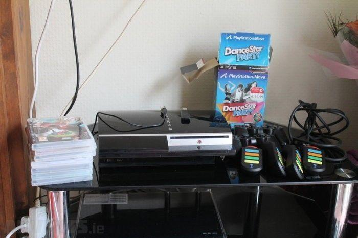 Playstation 3 with many accessories