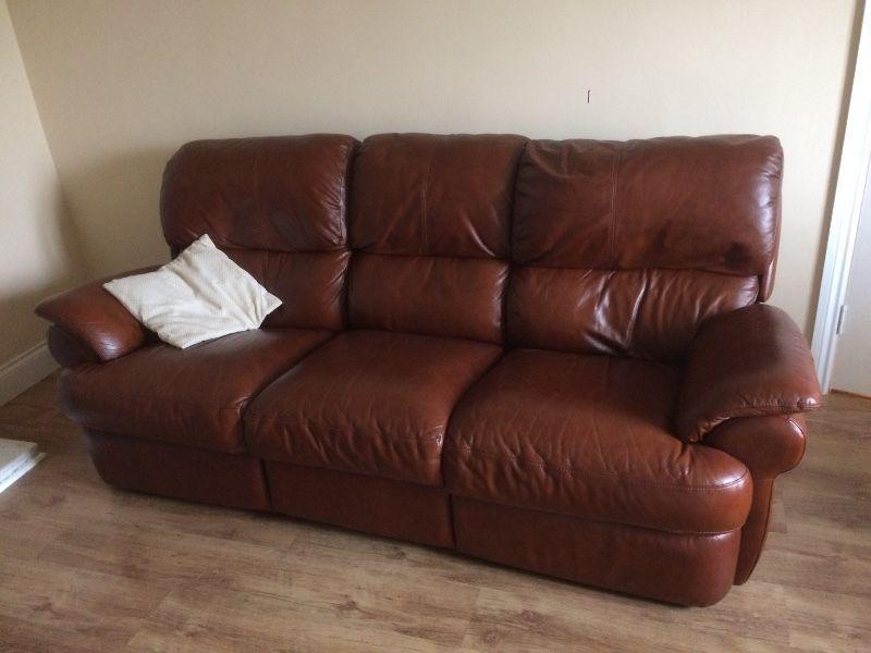 3 piece recliner leather suite