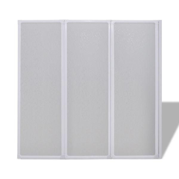 Shower Doors & Enclosures : Shower Bath Screen Wall 141 x 132 cm 3 Panels Foldable(SKU140785)