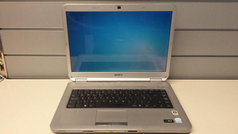 SALE Sony Vaio 15inch Cheap Laptop 4GB 250GB Windows 7 in Silver