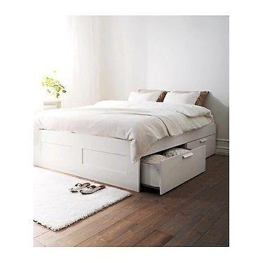 Storage bed and headboard