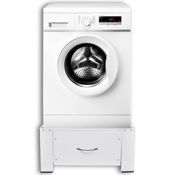 Washer & Dryer Accessories : Washing Machine Pedestal with Drawer White(SKU50448)