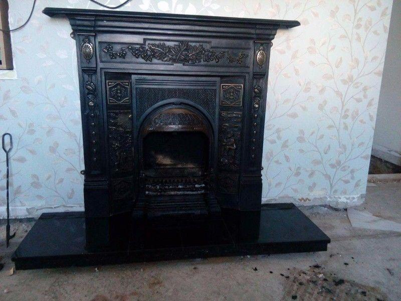 Fireplace with back boiler