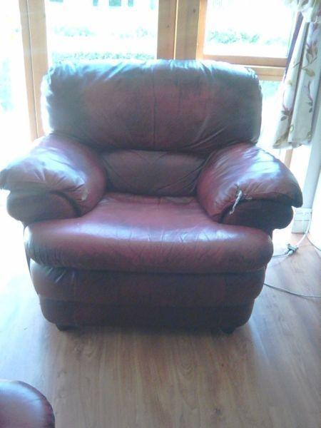 free genuine leather sofa chair to give away