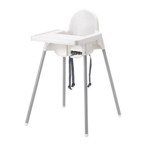 Highchair with safety belt ANTILOP, red, Ikea