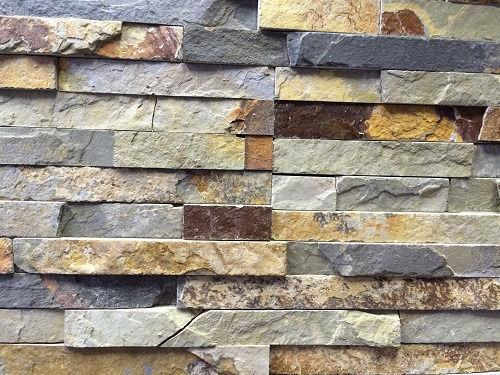 Brown quartz natural stone panels