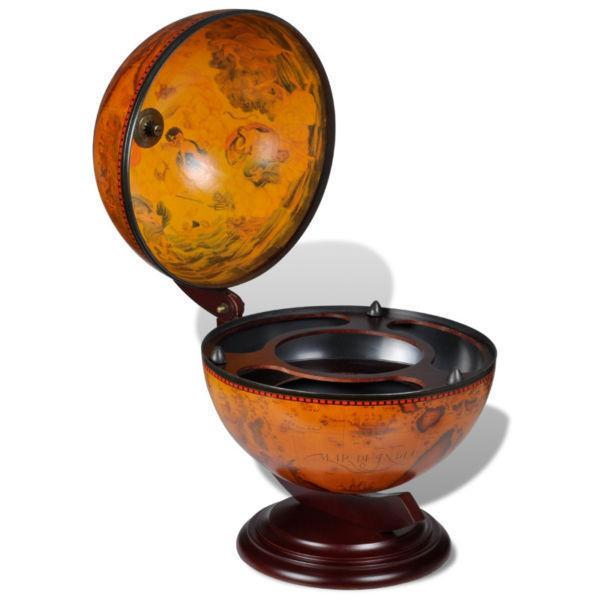 Tabletop Bar Globe with Embowed Stand Wine Liquor Table Stand(SKU240698)