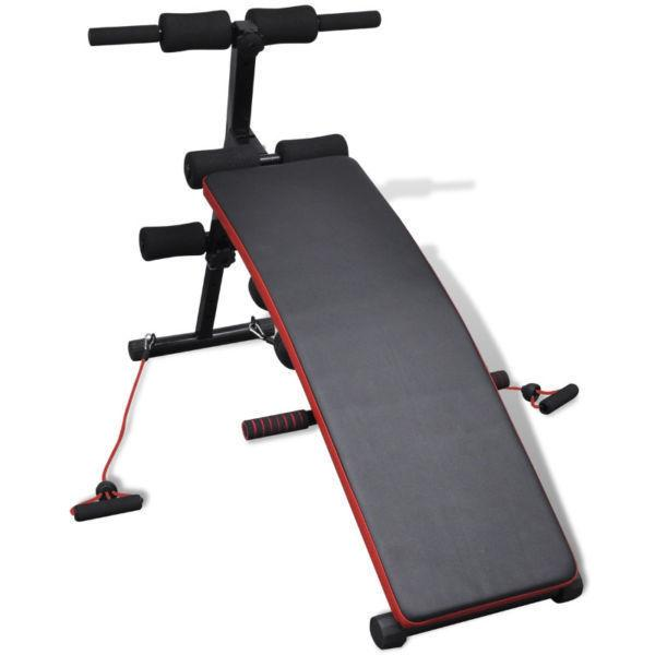Exercise Benche : Adjustable Multifunctional Sit Up Bench with 3 kg Dumbbells(SKU90649)