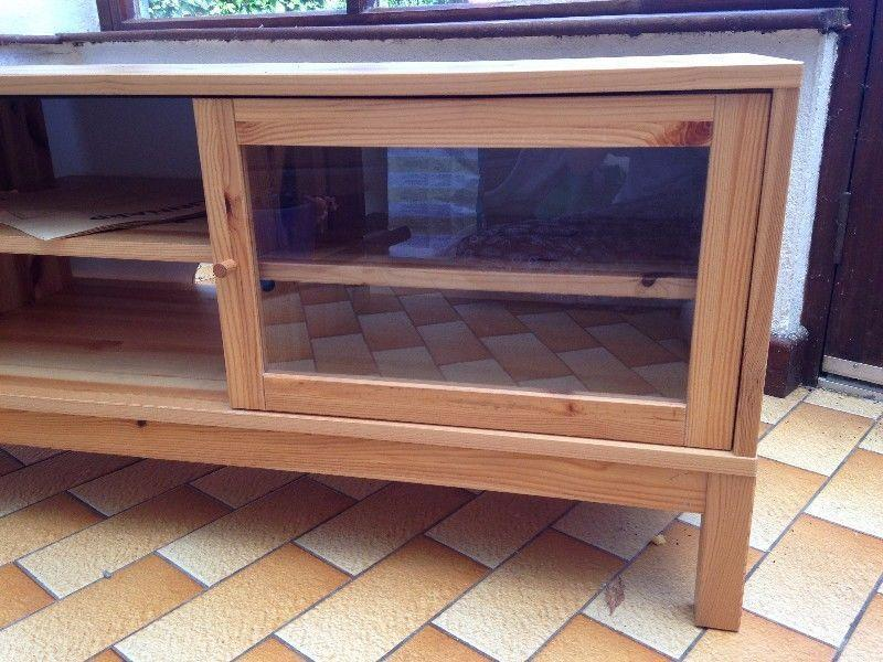 Lovely Ikea t.v. stand with sliding glass doors