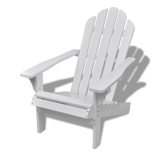 Outdoor Chairs : Wood Chair Living Room Garden Chair White(SKU40860)