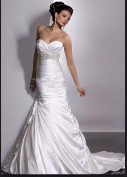 Maggie Sottero Wedding Dress in Satin