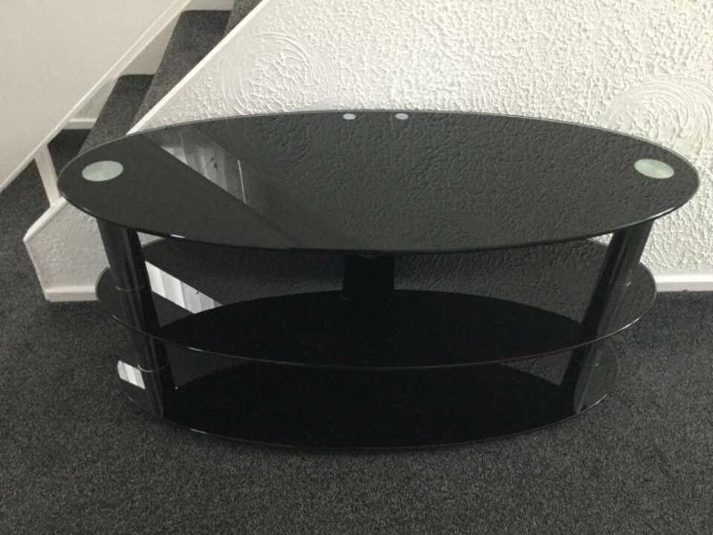 Glass television audio TV stand