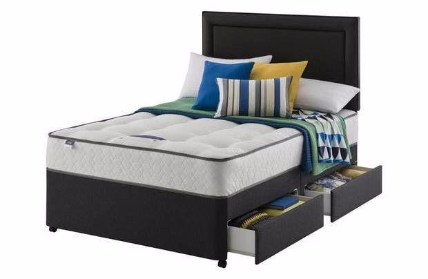 Brand new Silentnight Horton M5 Orthopedic Double 4 drawer divan and mattress bed