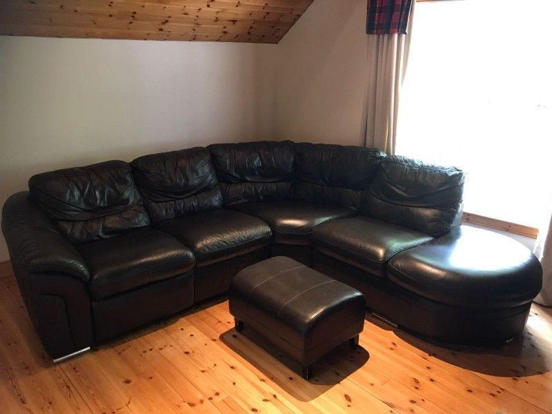 Real leather Italian made corner sofa