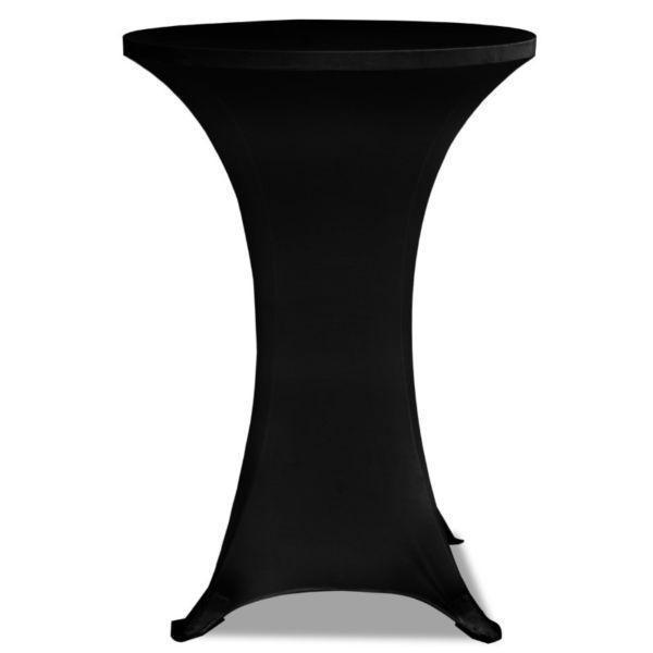 Slipcovers : Standing Table Cover Ø60cm Black Stretch 2 pcs(SKU241204)