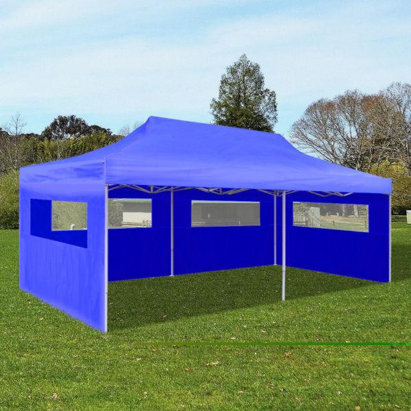 Blue Foldable Pop-up Party Tent 3 x 6 m(SKU41583)