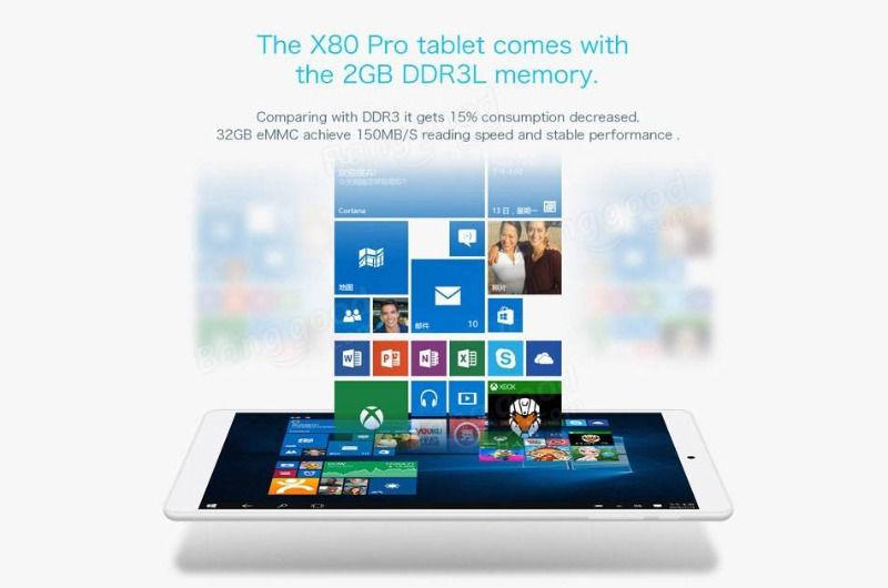 Original box teclast x80 pro 32gb intel z8350 quadcore 8 inch dual boot tablet PC