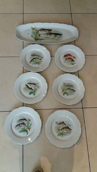 Plates and presentation plates fish
