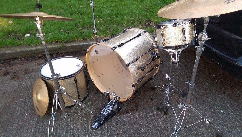 Tama Superstar Drums and Zildjian and Sabian Cymbals