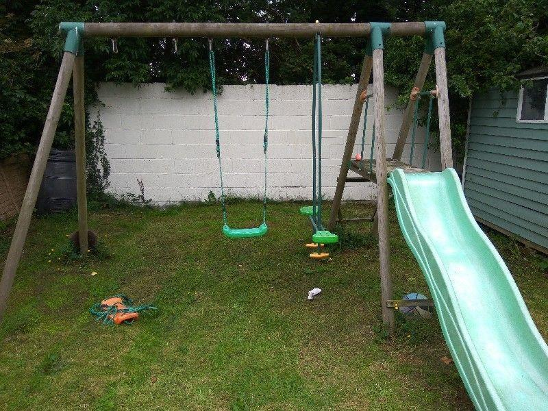FREE Wooden Swing & Slide set