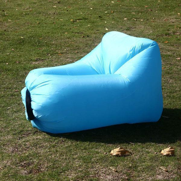 Ipree outdoor mini square headed lazy seat couch sofa fast air inflatable camping travel beach