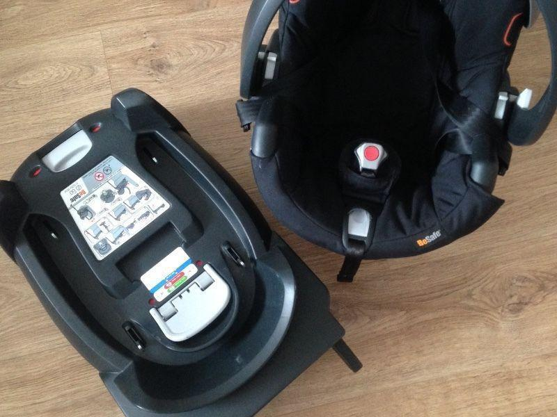 Besafe Izi Go infant car seat with isofix base and adaptors - excellent condition!