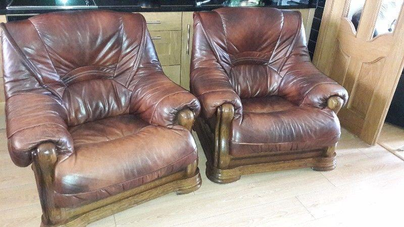 3+1+1 Real leather suite