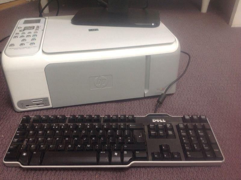 Desktop computer and printer