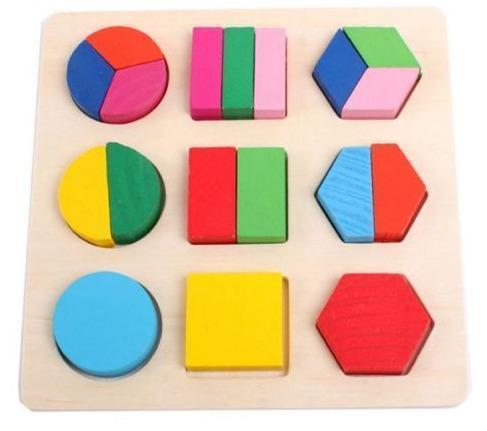 Educational Montessori Geometry Wooden Puzzle