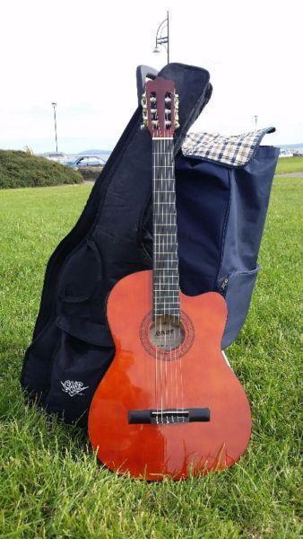 Ashton CG44CEQAM Electric Acoustic Guitar