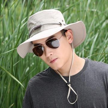 men cotton embroidery bucket hats fishermen hat outdoor climbing mesh breathable sunshade cap